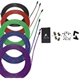 AEOLOS Speed Jump Rope Replacement Cable, 5 Pack 10ft Stainless Steel Ultra Speed Cables with Nylon Polymer Coating for Maxim