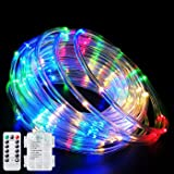 Fatpoom Fairy Lights LED Rope Lights Battery Operated String Lights 40Ft 120 LEDs 8 Modes Outdoor Waterproof Dimmable/Timer w