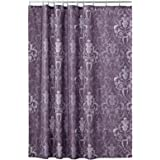 mDesign Decorative Vintage Damask Print - Easy Care Fabric Shower Curtain with Reinforced Buttonholes, for Bathroom Showers,