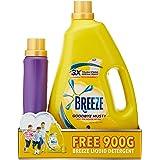 Breeze Liquid Detergent, Goodbye Musty, 3.8kg + FREE 900g