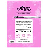 Arttec Arttec Watercolour Pad 15 Sheets A5 Art Pad, A5