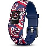 Garmin Vivofit Jr. 2, Kids Fitness/Activity Tracker, Captain America