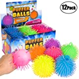Puffer Balls (Pack of 12) - Stress Relief Balls Bulk, Neon Sensory, Stress Relief & Therapy Ball Toy for Kids for Goodie Bags