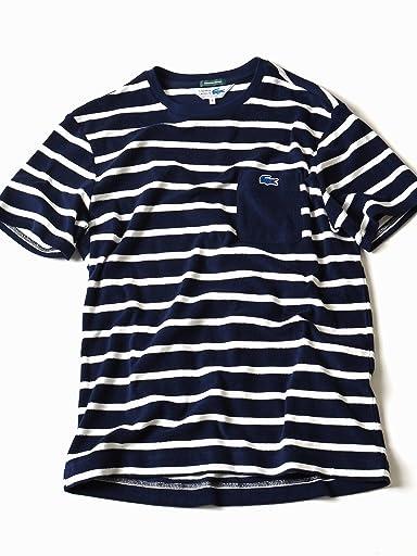 Pile Stripe Pocket Tee 112-12-0841: Navy