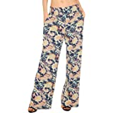 Urban CoCo Women's Boho Palazzo Pants Wide Leg Lounge Pants