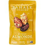 Sahale Snacks Honey Almonds Glazed Mix, 4 oz., Pack of 1 – Nut Snacks in a Resealable Pouch, No Artificial Flavors, Preservat