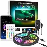 "Nexillumi 40""-60"" TV Backlight Light Strip Kit for Room APP Control Sync to Music, 5050 RGB Waterproof IP65 USB LED Strip Lig"
