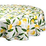 DII Round Cotton Tablecloth for Autumn, Thanksgiving, Catering Events, Dinner Parties, Special Occasions or Everyday Use - 70