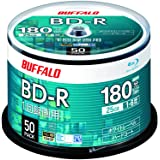 バッファロー ブルーレイディスク BD-R 1回録画用 25GB 50枚 スピンドル 片面1層 1-6倍速 ホワイトレーベル RO-BR25V-050PW/N