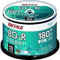 バッファロー ブルーレイディスク BD-R 1回録画用 25GB 50枚 スピンドル 片面1層 1-6倍速 ホワイトレー…