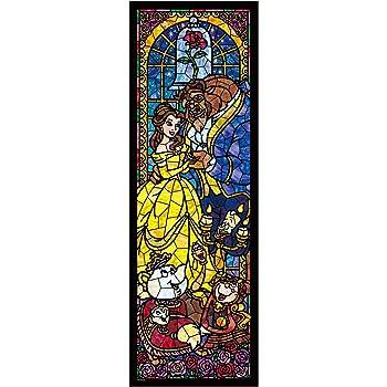 456ピース ジグソーパズル 美女と野獣 ステンドグラス ぎゅっとシリーズ(18.5x55.5cm)