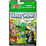 Melissa & Doug 30176 On The Go Water Wow! Jungle Activity Pad (Reusable Water-Reveal Coloring Book, Refillable Water Pen)
