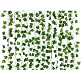 Dedoot Ivy Garland, 12 Pcs (79 Inch Each) Fake Ivy Garland Leaves Artificial Poison Ivy Leaves for Craft Costume Wedding Part