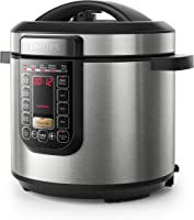 Philips Viva Collection All in One Multi Cooker/Pressure Cooker/Slow Cooker with Anti-Scratch ProCeramic+ Pot, 6L,...