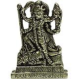 Brass Goddess Kali Statue Car Dashboard Metal Décor Metallic Gold Office Table Gift Mettalic Gold