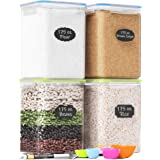 Extra Large Tall Food Storage Containers 175oz, For Flour, Sugar, Baking Supplies - Airtight Kitchen & Pantry Bulk Food Stora