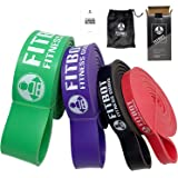 FITBOT Set of 4 Heavy Duty Resistance Band - Premium Assisted Pull-Up Bands with Durable Carry Bag - Exercise Band for Gym Yo