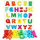 TOWO Wooden Alphabet Puzzle for Toddlers- Chunky Size Peg Puzzle - Alphabet Puzzle Board for Early Learning- Wooden Puzzle Ed