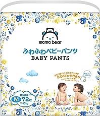 [Amazonブランド]Mama Bear ふわふわベビーパンツ M(7-10kg) 72枚