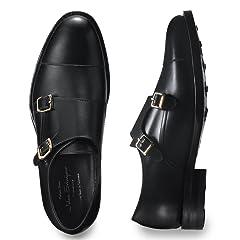 Double Monk Strap (Edward) 830015: Black