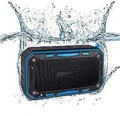 Lalabuy 6W 防水Bluetooth4.1スピーカー IP67防水防塵/10時間連続再生/強化された低音/デュアルドライバー/内蔵マイク搭載/AUX入力/micro SDカード& FMラジオ/10m伝送 オシャレ【ブラック+ブルー】