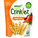 Sprout Organic Crinklez Toddler Snacks, Pumpkin Carrot, 1.48 Ounce Bag (Pack of 8)