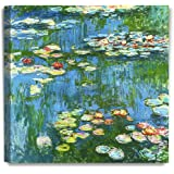 DecorArts - Water Lily Pond 1914 Claude Monet Art Reproduction. Giclee Canvas Prints Wall Art for Home Decor 16x16