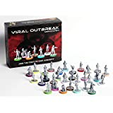[Not-So-Bored Games] Viral Outbreak Miniatures (30 25mm Figures, 30 Character Snaps), Perfect for Pandemic