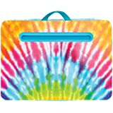 "Three Cheers for Girls - Tie Dye Lap Desk - Portable Lap Pillow Desk for Kids with Media Slot - 12"" x 16.9"" Lap Desk for Lapt"