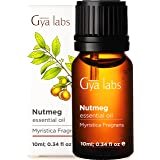 Gya Labs Nutmeg Essential Oil - Pain Reliever for Sore Free Body and Rested, Happier Days 10ml - 100 Pure Natural Therapeutic