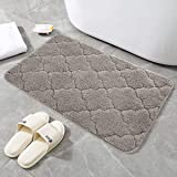 24x16 Inch Bathroom Rugs, 100% Mirco Polyester Accent Rugs, Easy-Clean,Super Thick and Soft,Perfect Absorbant,Non Slip,Machin