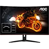 "AOC CQ32G1 31.5"" Curved Frameless Gaming Monitor, Quad HD 2560x1440, VA panel, 4 ms Response Time, MPRT, 144Hz, FreeSync, Dis"
