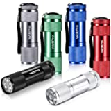 LED Mini Flashlights, WdtPro Super Bright Flashlight with Lanyard, Assorted Colors - Best Tac Torch Light for Kids, Night Rea