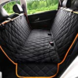 Kytely Upgrade Dog Car Seat Cover Waterproof Pet Seat Cover for Back Seat, Scratch Proof & Nonslip Backing & Hammock, 600D He
