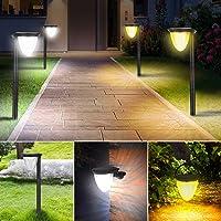 Leolee ソーラーライト 屋外 2つ色温度調節可能 4つ照明モード IP65防水 ガーデンライト ソーラー 24LE…