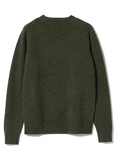 5 Gauge Wool Crewneck Sweater 11-15-0879-103: Olive