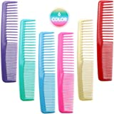 QITIMIR Colorful Hair Comb Set 6 Colors in Pack, Hair Combs For Women and Men and Kids, Detangler Comb, Wide Tooth Combs, Ide
