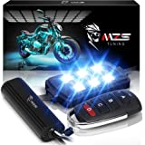 MZS Motorcycle LED Light Kit Multi-Color Neon RGB Strips, Wireless Smart Remote Controller -Compatible with ATVs UTVs Cruiser