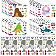 FEPITO 30 Pcs Make a Face Sticker Sheets Make Your Own Sea Life Stickers for Kids Party,Birthday Party Favors