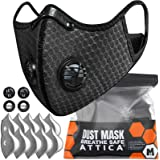 ATTICA Face Mask with Filters - Reusable Washable Adjustable Face Mask for Running, Cycling, Outdoor Activities(1 Mask + 10 A