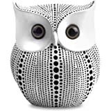 APPS2Car Crafted Owl Statue (White) Small Animal Figurines for Home Decor, BFF for Owl Bird Lovers, Living Room Bedroom Offic