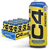 C4 Energy Carbonated Zero Sugar Energy Drink, Pre Workout Drink + Beta Alanine, Sparkling Frozen Bombsicle, 16 Fl Oz (Pack of