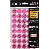 Sunburst Systems 7035 Prepriced Garage Sale Labels, 1000-Pack