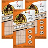 Gorilla Removable Mounting Putty, 3-Pack, Off-White, 3 Piece