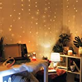 Merkury Innovations XL Size Battery-Operated Curtain Lights with 240 LEDs, Backdrop Curtain for Bedroom, Wedding, Decoration,