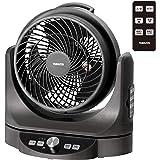 [山善] 扇風機 23cm サーキュレーター 上下左右自動首振り (換気/空気循環) 風量8段階調節 静音モード DCモーター搭載 リモコン付き メタリックブラック YAR-AD23E(MB) [メーカー保証1年]