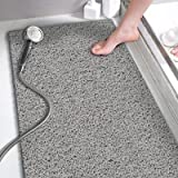 Shower Mats Non Slip Without Suction Cups, Bath Mat for Textured Tub Surface, Loofah Mats for Shower and Bathroom, Quick Dryi