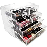 Sorbus Acrylic Cosmetics Makeup and Jewellery Storage Case Display- 2 Large and 4 Small Drawers Space- Saving, . Acrylic Bath