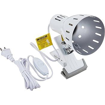 YAZAWA(ヤザワコーポレーション) LED専用 クリップライト E26 1灯 電球なし ホワイト・Y07CLX60X01WH