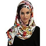 Jersey Hijab Shawl for Women Cotton Head Wrap Instant Scarf Muslim Turban Cap